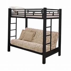 Black twin futon bunk bed bunk bunk loft beds bedroom for Black futon bunk bed
