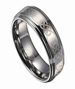 Men39s tungsten wedding ring with celtic knot design for Celtic wedding rings for men