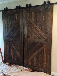 custom made handmade wooden interior rustic sliding barn With custom made interior barn doors