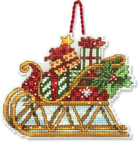 dimensions sleigh christmas ornament cross stitch kit 70