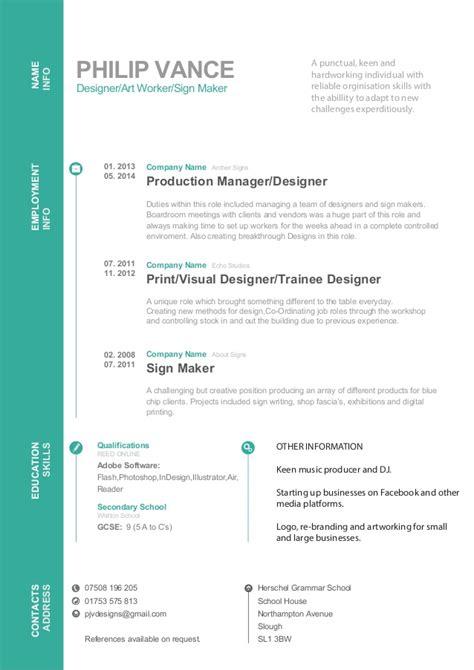 philip vance cv  business plan