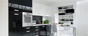 Cuisine Blanche Et Noire : but cuisine tipy blanc et noir photo 10 15 prix tr s ~ Nature-et-papiers.com Idées de Décoration