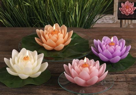 candele a fiore candela ninfea galleggiante candele a fiore e forme