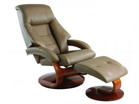 Ottoman Lounge Chair by Oslo Collection Swivel Recliner Chair Ottoman Sand Leather