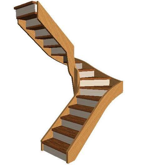 aide calcul escalier quart tournant