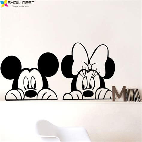 aliexpress com buy free shipping mickey minnie mouse wall decals vinyl sticker home