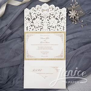 wholesale laser cut wedding invites With wedding invitation pockets wholesale
