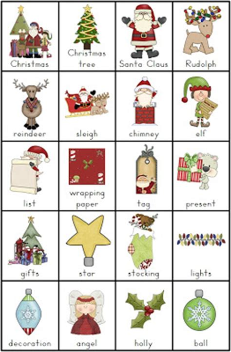 Free Christmas Vocabulary Charts And Writing Tasks  Clever Classroom Blog