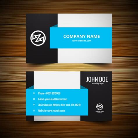 stylish visiting card template vector