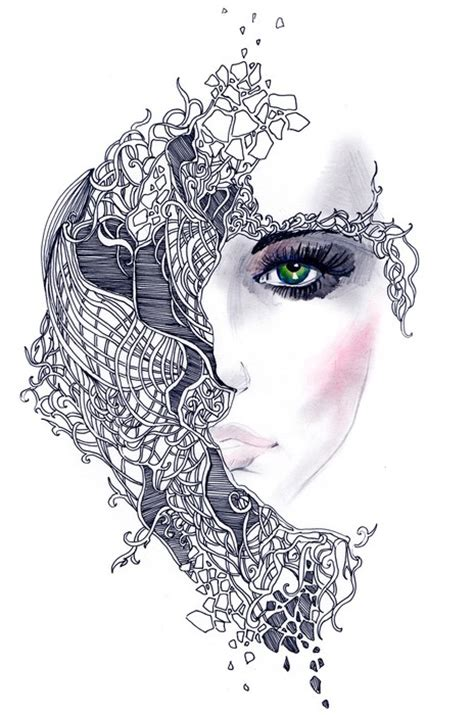 abstract woman face wall mural pixers    change