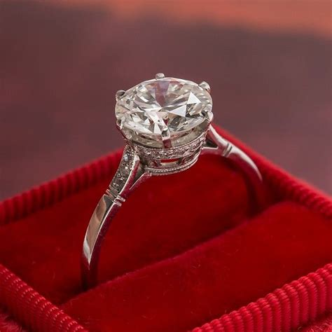 queens park vintage solitaire diamond engagement ring from