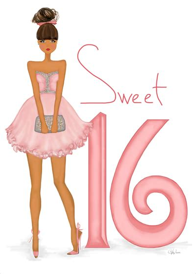 sweet  birthday card art fashion illustration cards