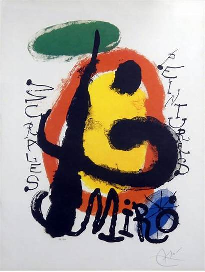 Miro Joan Lithograph Signed Limited Edition Peintures