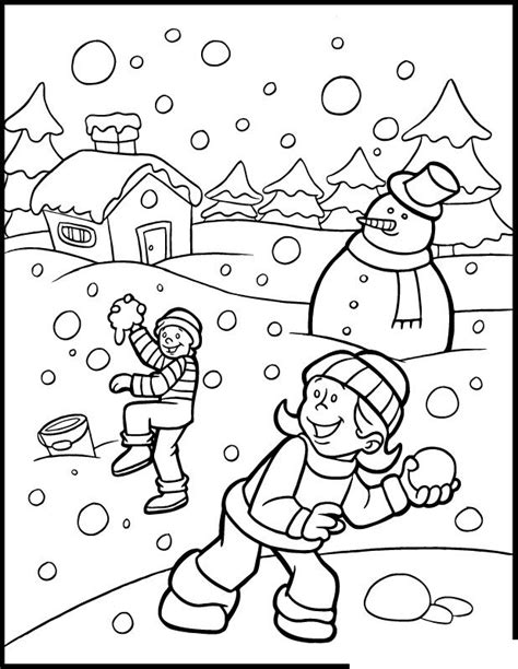 winter coloring winter color sheet preschool 4 seasons coloring pages