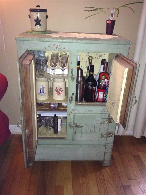Home Bar Supplies by My Mini Bar At Home Got The Antique Box At A Garage