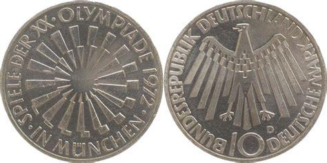 10 dm münze wert deutschland 10 dm strahlenspirale muenchen 1972 d silber