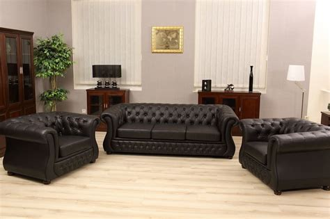 Chester Lux Capitonnè Chesterfield Inglese Set Salotto In