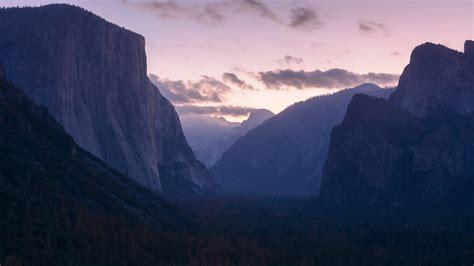Landscape, Sunset, Mountains, Forest, Yosemite National