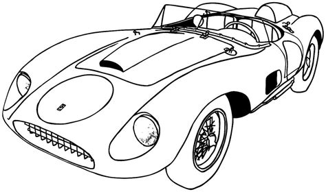 Printable Coloring Pages Sports Cars