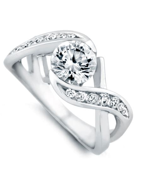 soulmate contemporary engagement ring schneider design