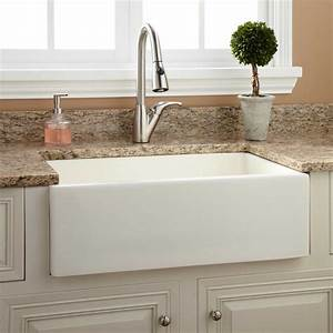 30quot Northing Fireclay Farmhouse Sink With Fluted Apron