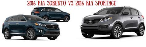 Kia Sportage Vs Sorento by 2016 Kia Sorento Vs 2016 Kia Sportage