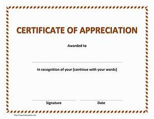 certificate of appreciation With template for a certificate of appreciation