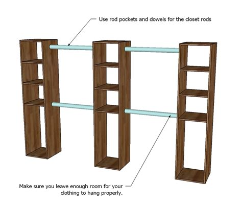 Diy Closet System Plans by White Master Closet System Diy Projects