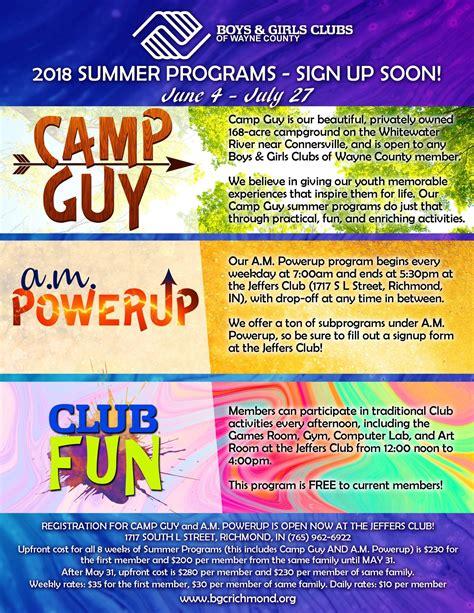 SUMMER PROGRAMS!