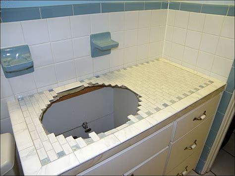 Tile Bathroom Countertop Ideas by Tiling Laminate Countertops Bondera Tile