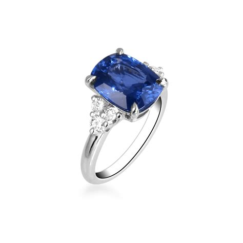 blue wedding ring blue sapphire ring engagement ring jewelry ring blue