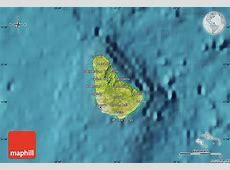 Satellite Map of Barbados