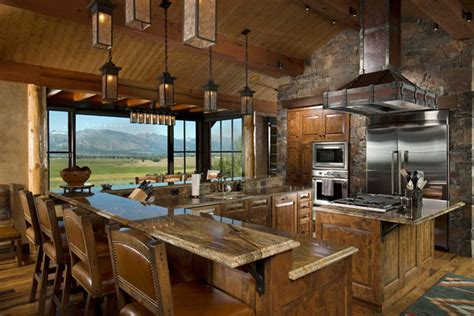 kitchen islands for sale ebay 53 sensationally rustic kitchens in mountain homes