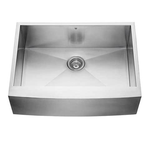 shop vigo      stainless steel single basin apron frontfarmhouse commercial