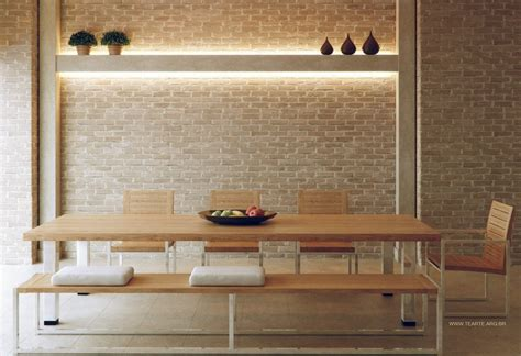 Interior Bench Ideas by 4 Neutral Exposed Brick Dining Room Bench Interior
