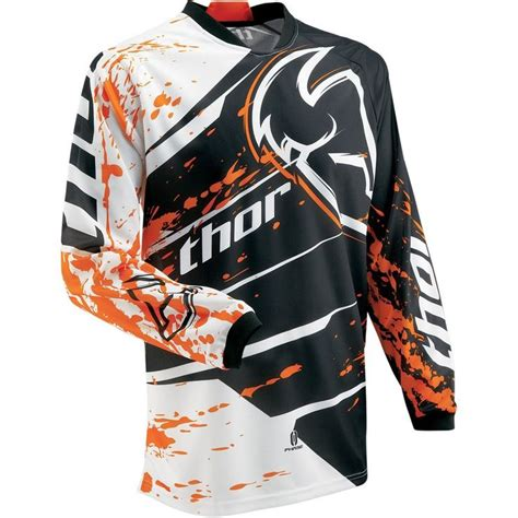 thor motocross jersey thor mx phase splatter youth boys motocross motorcycle