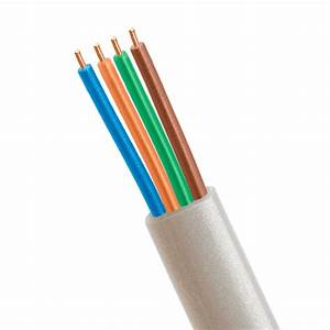 Phone Cable Flat 4 Wire  Solid  Silver