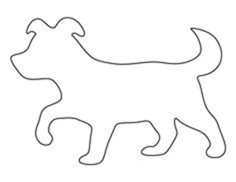 dog face pattern   printable outline  crafts