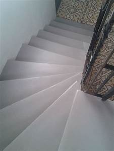 Escalier Carreaux De Ciment : escalier en granito d 39 origine recouvert de r sine b ton ~ Dailycaller-alerts.com Idées de Décoration