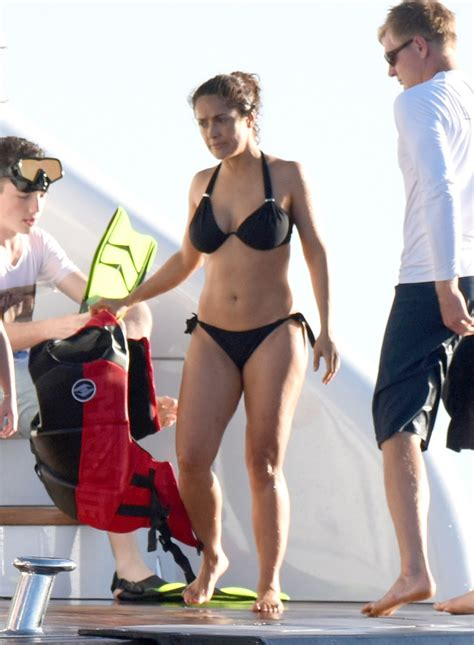 lauraharring swimsuit salma hayek in bikini celebrity slips