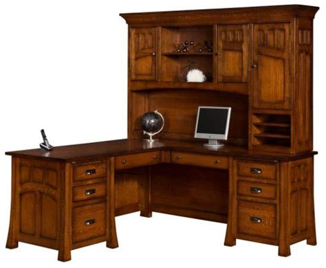 corner l shaped office desk with hutch mission l shaped desk with hutch countryside