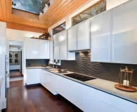 black backsplash in kitchen black graphic wavy backsplash kitchen wooden floor island olpos design