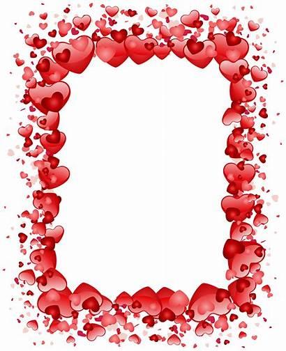 Transparent Valentines Clipart Valentine Border Clip Hearts