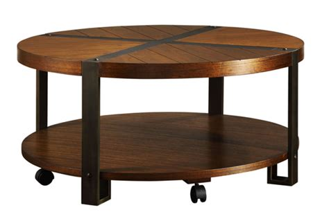 round table cameron park round cocktail table hooker furniture living room