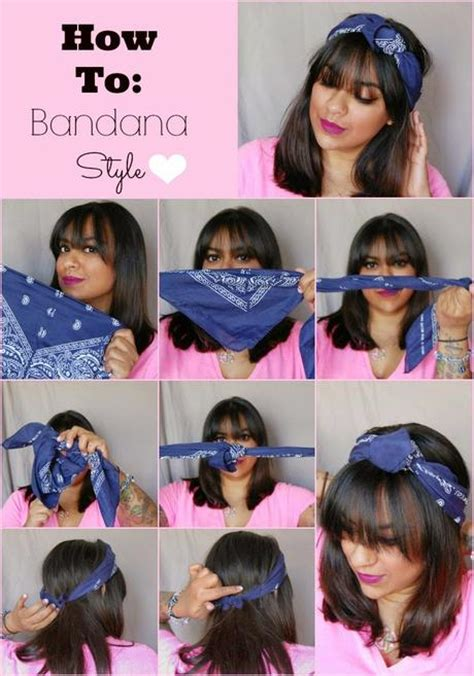 how to style hair with a bandana bandana style hair tutorial paperblog 7071