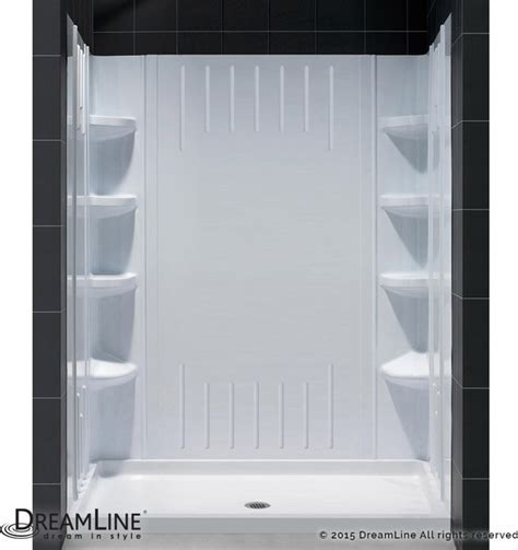 "DreamLine SlimLine 30""x 60"" Base Center Drain and Shower"