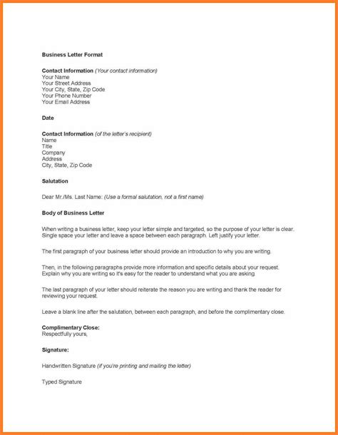 Business Letter Template Professional Business Letter Template Theveliger