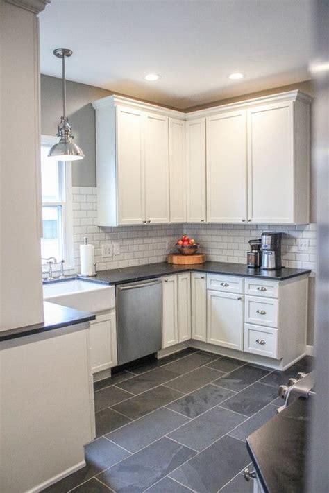 Best 15+ Slate Floor Tile Kitchen Ideas  White Kitchen