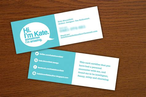 Quirky Business Card By Katebloomfield On Deviantart