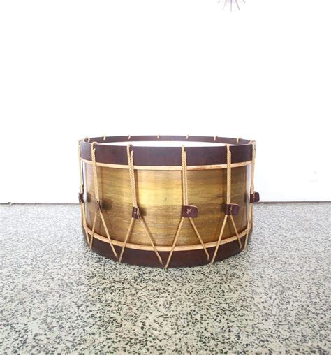 drum style coffee table vintage large drum coffee table for sale at 1stdibs